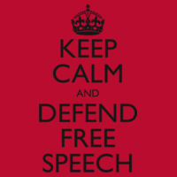 Keep Calm and Defend Free Speech Classic Red T-Shirt Design
