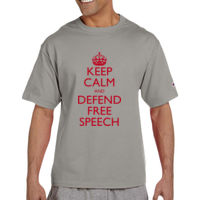 Justice Centre Tall T-Shirt Red Lettering  Thumbnail