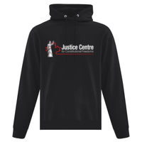 Justice Centre Premium Hoodie Dark Colours with Keep Calm Defend Free Speech on Back Thumbnail